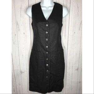 Express Size 3/4 Black Sleeveless Vest Dress